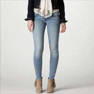 AEO Super Super Stretch Jeggings Skinny Blue Jeans